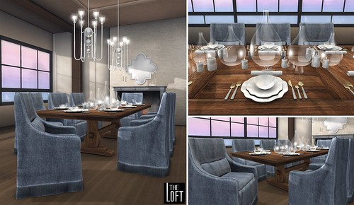 The Loft - Villa Casolare Dining Room Denim