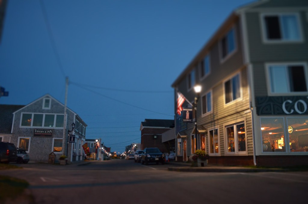 lubec nighttime tilt-shift