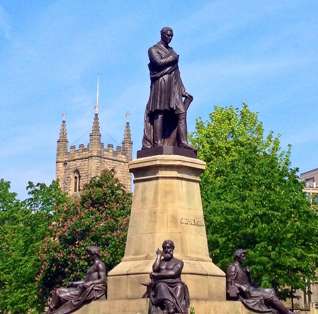 George Stephenson Monument, Westgate Rd/Neville St