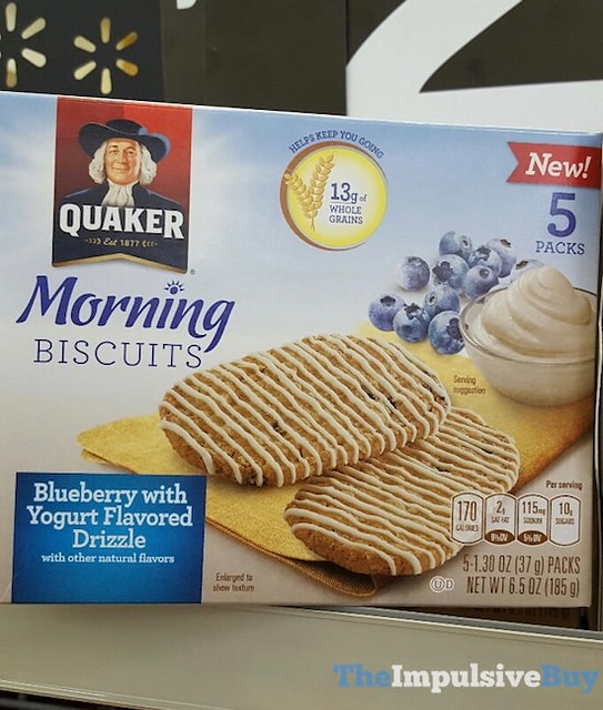 Quaker Morning Biscuits Blueberry with Yogurt Flavored Drizzle
