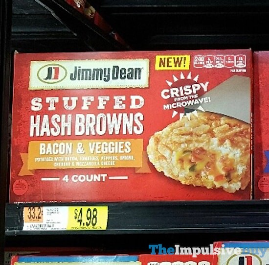 Jimmy Dean Bacon & Veggies Stuffed Hash Browns