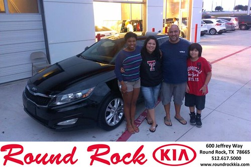 Thank you to Isabel Gonzalez on your new 2013 Kia Optima from Kent Turner and everyone at Round Rock Kia! by RoundRockKia