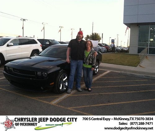 Thank you to Jane Miller on your new 2014 #Dodge #Challenger from George Rutledge and everyone at Dodge City of McKinney! by Dodge City McKinney Texas