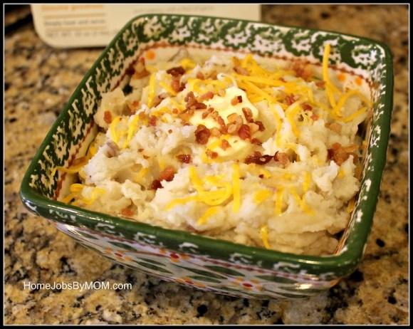 honeybaked ham garlic mashed potatoes