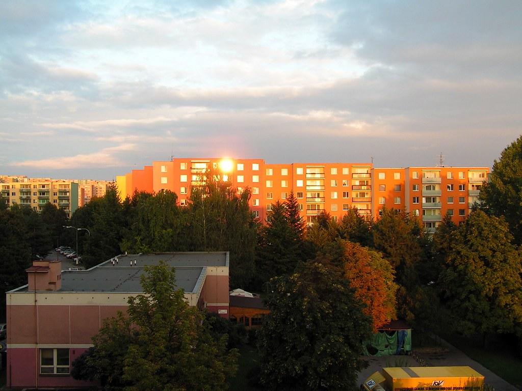 Housing Estate at Sunset