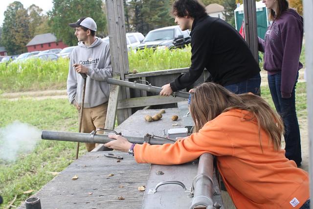 shooting the potato cannon