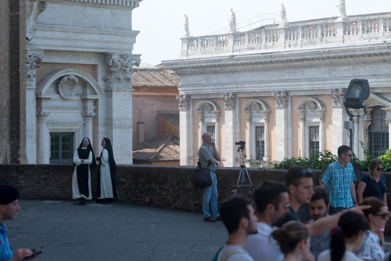 Nuns and others just hanging out in Rome