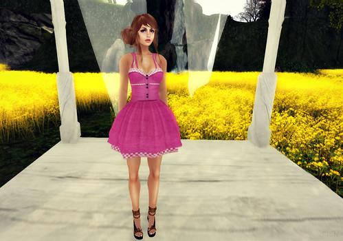 Has Been Sandy Dress Pink