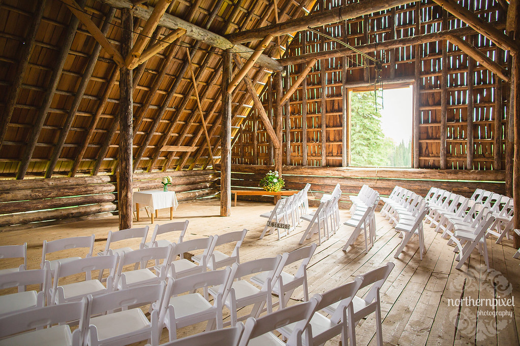 Huble Homestead Barn Wedding Ceremony Northern British Columbia Wedding Venue