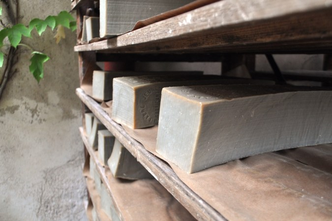 Bricks of Marseille Soap at Marius Fabre Soap Factory