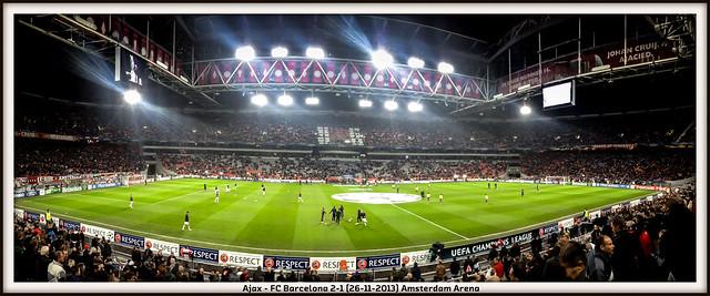 Ajax - FC Barcelona in Amsterdam Arena (26-11-2013).