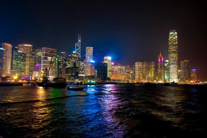 香港コンベンション&エキシビジョンセンター近辺からの夜景