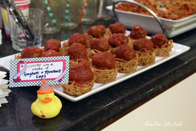 baby shower - meatball cups