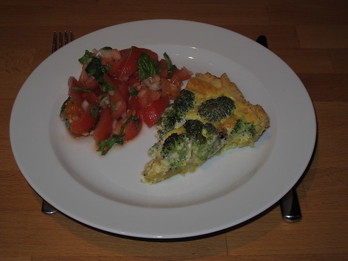 Roquefort, Broccoli & Onion Quiche