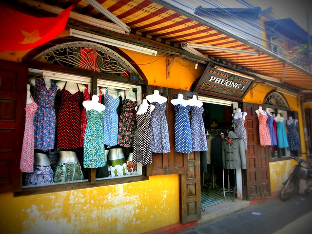 Tailor shops in Hoi An, Vietnam