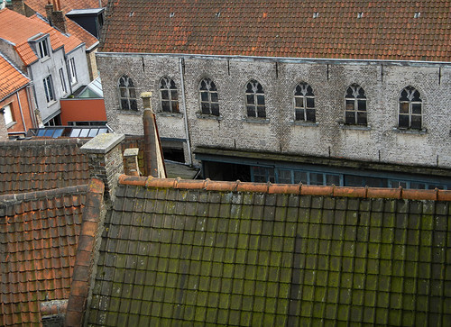 view from the window at the Bruges (Brugge) brewery tour