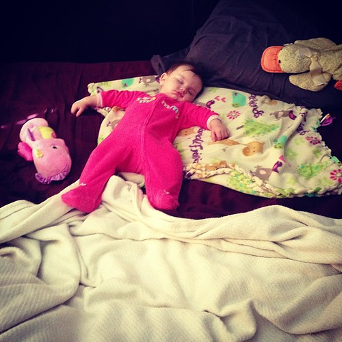 Little princess in a king size bed, spoiled much?