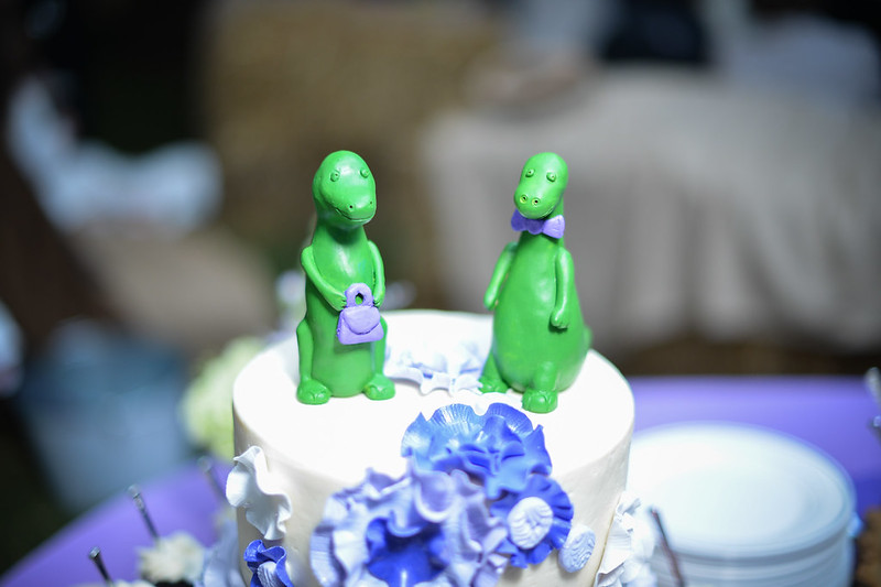 Lovely Love Story Dinosaur Cake Toppers