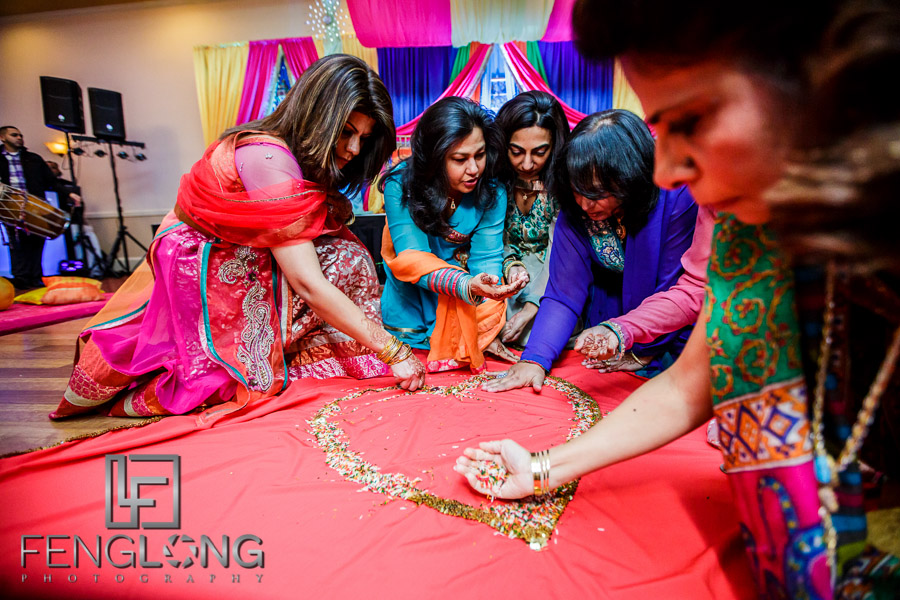 Preparing for bride's pithi ceremony
