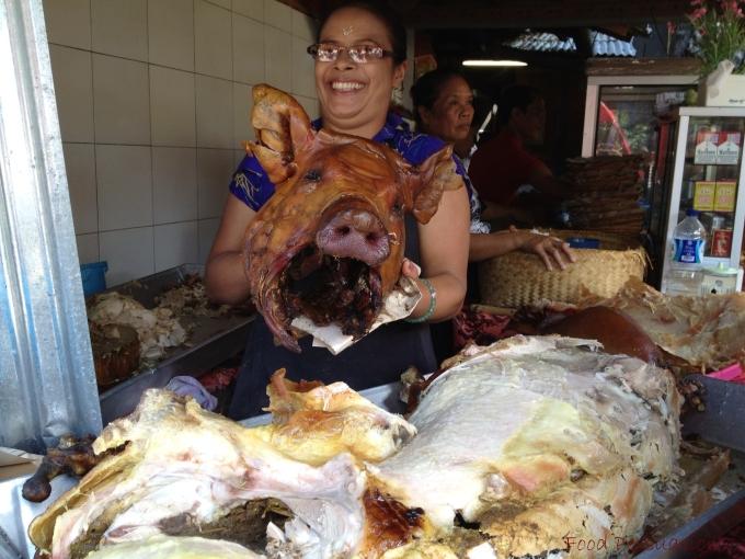 babi guling head