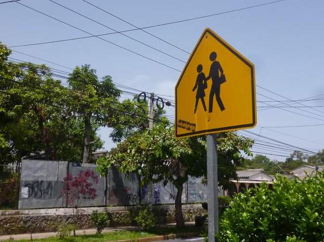 Beware of pedestrians when driving