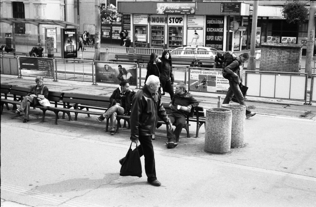 Kiev 4 - New Scan - Typical Scene at Tram Stops in front of Main Train Station 2