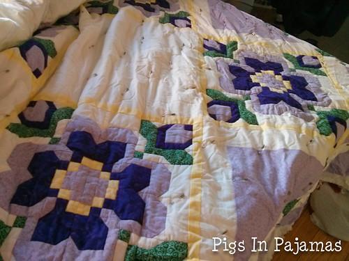 Purple flower quilt