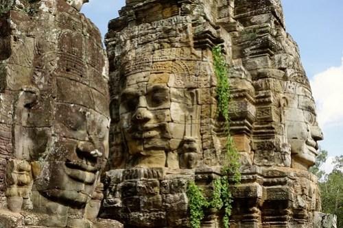 Faces of Bayon at Angkor Wat