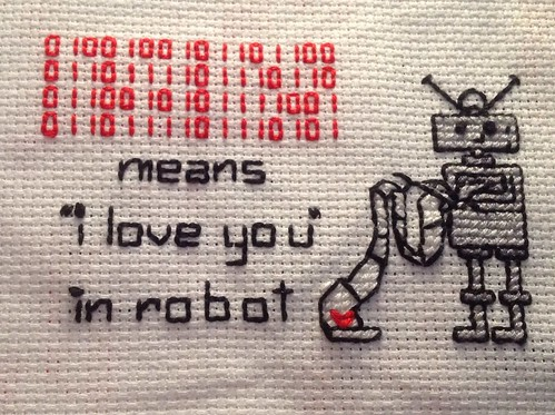 i love you in robot