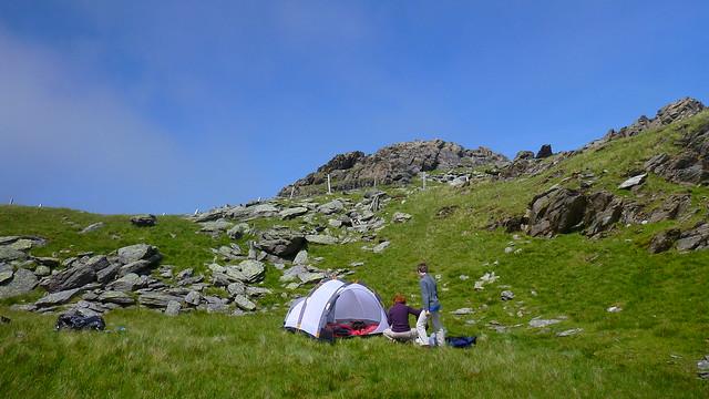 Moelwyns, wild camp