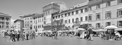 Roman square in B&W