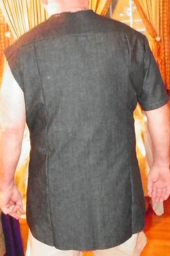 Back of man's shirt