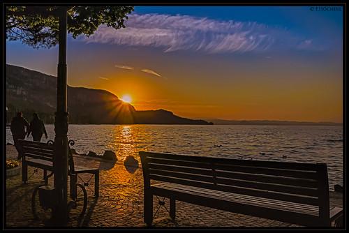 Sonnenuntergang Garda