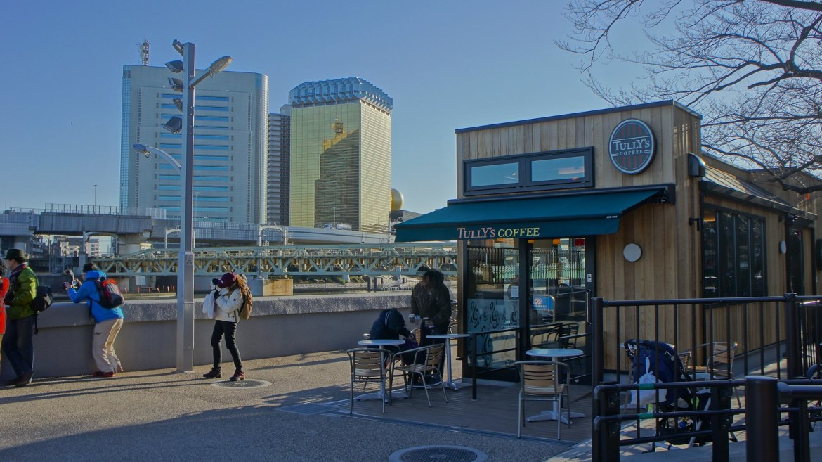 Tully's Cafe by Sumida River