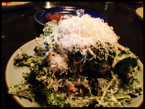 Curly Kale, Caesar Dressing, Walnut, Parmesan