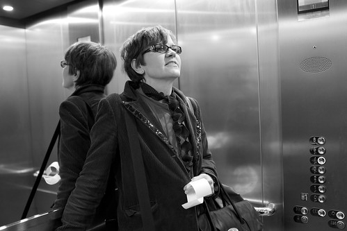 In the lift by Fitzrovia