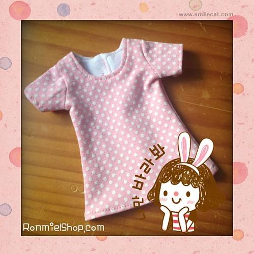 #squaready #smilephoto #msd #msdslim #dollclothes  #ronmielshop #dots #pink #bjd #bjdoll #elfdoll #unoa #minifee by * Ronmiel *