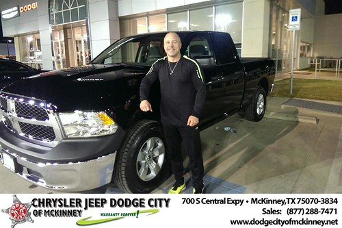 Thank you to Jake Maxwell on your new 2013 #Ram #1500 from Joe Ferguson  and everyone at Dodge City of McKinney! #NewCarSmell by Dodge City McKinney Texas