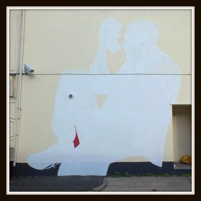 Helen Bur street art in Cardiff