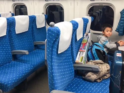 帰りの新幹線はガラガラ