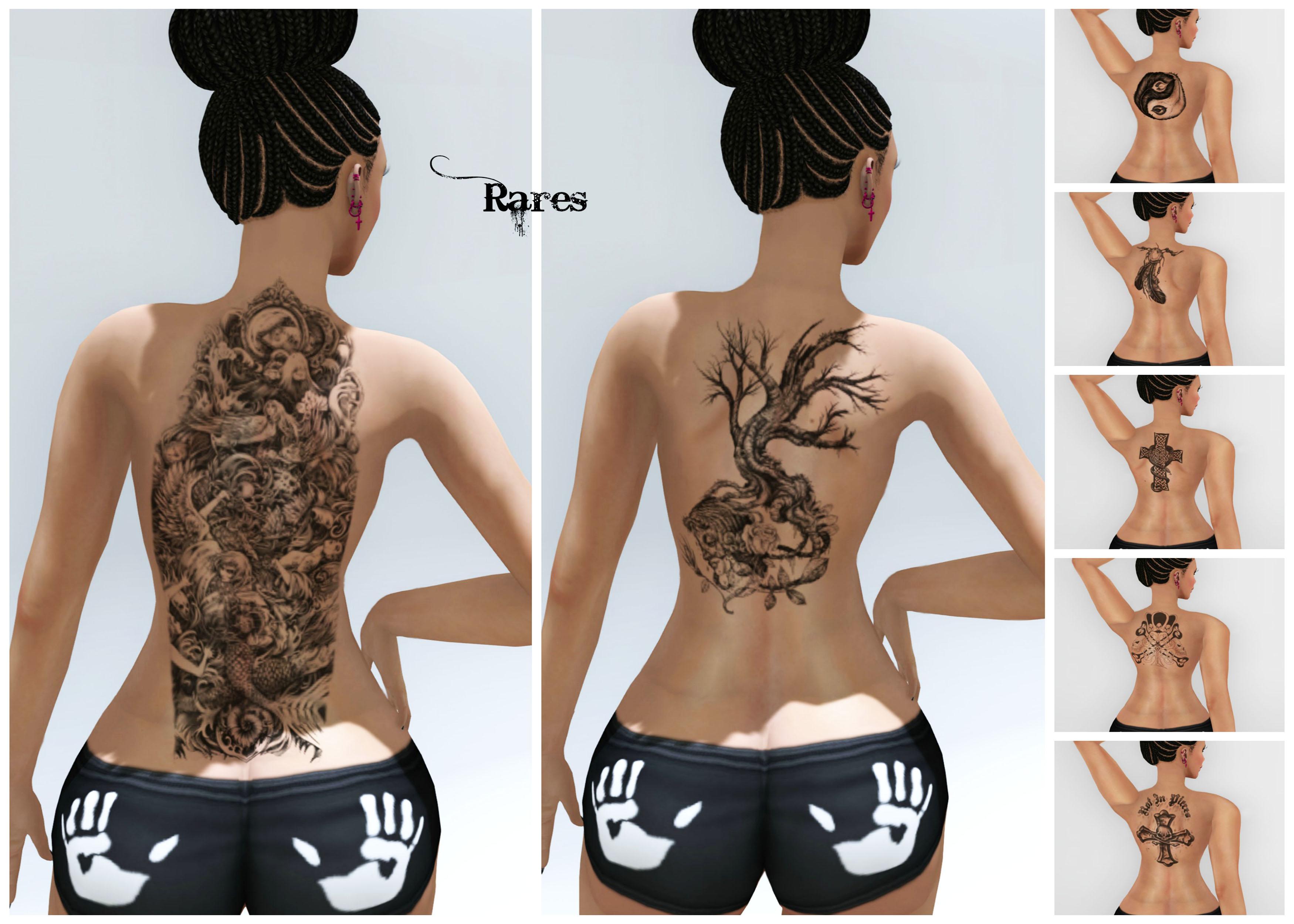 Grunge Back Tattoos Collage