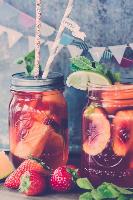 Rhubarb Juice with Fruits