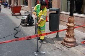 Labores permanentes de limpieza y mantenimiento en la ciudad