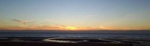Zonsondergang - zomer in Oostende