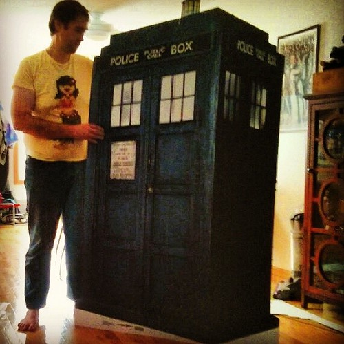 Look what showed up in our living room! #doctorwho