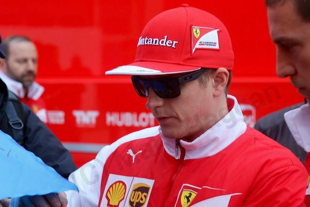 Kimi Raikkonen at Formula One Winter Testing 2014