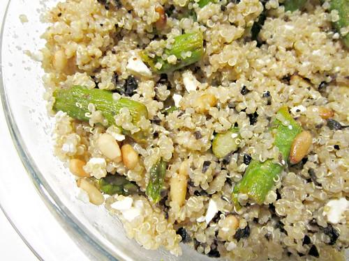 Quinoa Asparagus Feta Salad