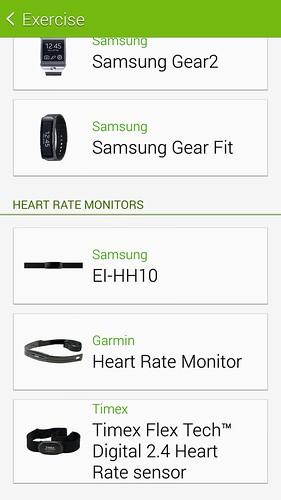 อุปกรณ์เสริมที่ใช้คู่กับ S Health 3.0 ได้