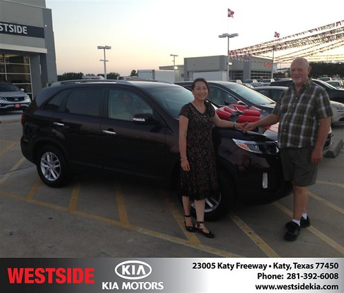 Thank you to Bill Lee on the 2014 Kia Sorento from Damon  Clayton  and everyone at Westside Kia! by Westside KIA