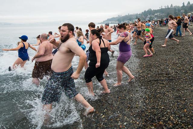 Polar Bear Dip, Seattle 1-1-14-2-11